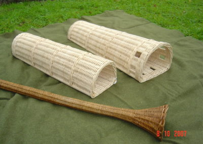 Wicker umbrella basket and horn case