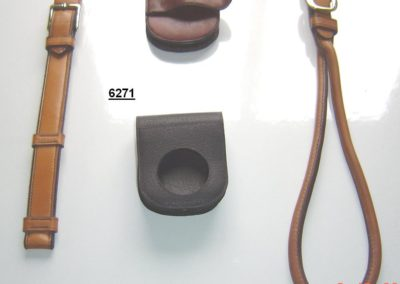 Mounting straps, rein clip, clock case