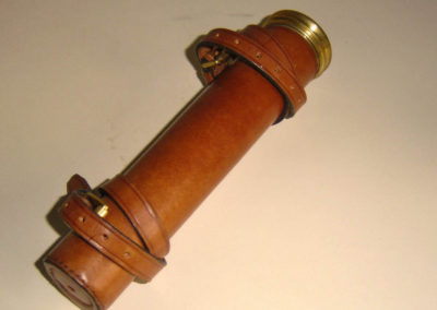 Leather whip holder, spring fitted