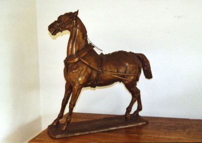 Bronze: horse in harness