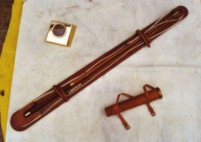 Spare whip, clock case, whip holder