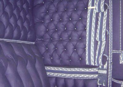 "Town Chariot: woollen upholstery, ""épinglé"" lace"