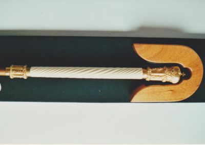 State whip ivory handle