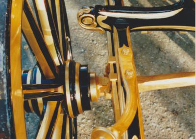 Gold leaf on undercarriage
