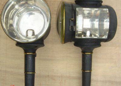 Bow fronted lamps