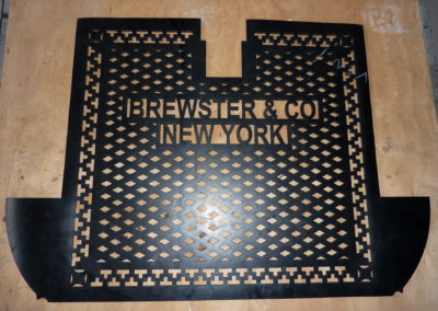Stamped out rubber mat